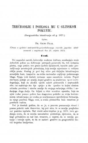 Trećogorje i podloga mu u glinskom Pokupju : RAD