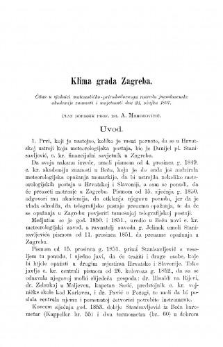 Klima grada Zagreba