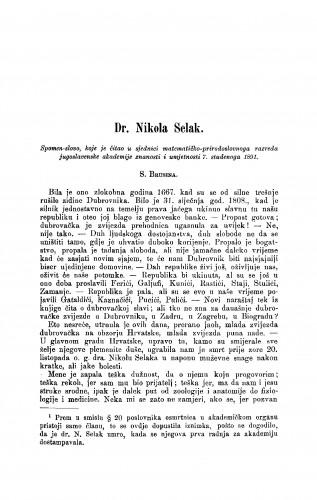 Dr. Nikola Selak