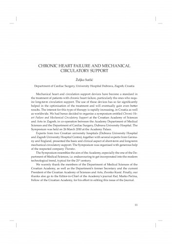 Chronic heart failure and mechanical circulatory support