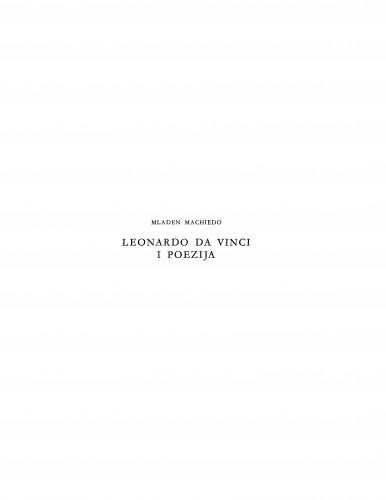 Leonardo da Vinci i poezija