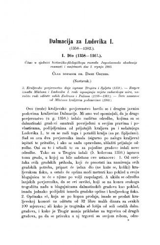Dalmacija za Ludovika I. (1358-1382.)