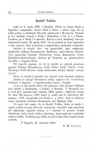 Rudolf Valdec / M. Kl. Crnčić