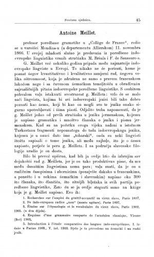 Antoine Meillet / T. Maretić