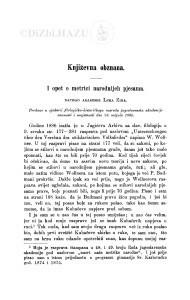 I opet o metrici narodnijeh pjesama : [književna obznana] / L. Zima