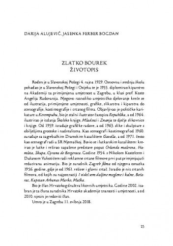 Zlatko Bourek : životopis / Darija Alujević, Jasenka Ferber Bogdan