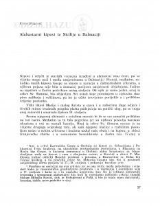 Alabastarni kipovi iz Sicilije u Dalmaciji / Cvito Fisković
