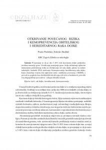 Otkrivanje povećanog rizika i kemoprevencija obiteljskog i hereditarnog raka dojke / Paula Podolski, Zdenko Budišić