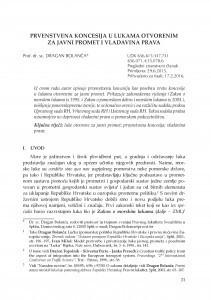 Prvenstvena koncesija u lukama otvorenim za javni promet i vladavina prava / Dragan Bolanča