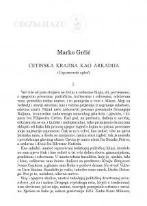 Cetinska krajina kao arkadija : (uspomenski ogled) / Marko Grčić