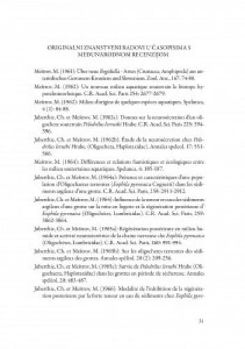 Akademik Milan Meštrov : popis znanstvenih i stručnih radova, znanstveno-stručnih studija i ostalih radova