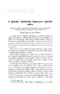 O njekojim vlastitostima Duporcq-ove sjekotine stošca / J. Majcen