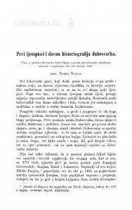 Prvi ljetopisci i davna historiografija dubrovačka / N. Nodilo
