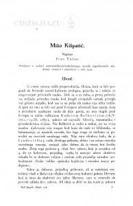 Mišo Kišpatić [Prikaz života i rada.] / F. Tućan