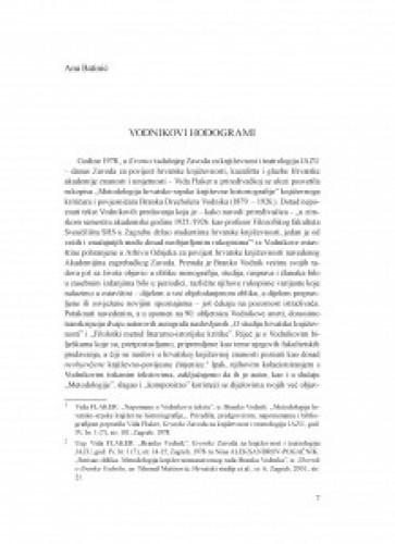 Vodnikovi hodogrami / Ana Batinić