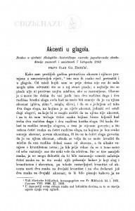 Akcenti u glagola / Đ. Daničić