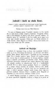 Andeziti i daciti uz obalu Bosne / M. Kišpatić