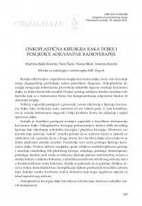Onkoplastična kirurgija raka dojke i posljedice adjuvantne radioterapije / Martina Bašić-Koretić, Nera Šarić, Vesna Bišof, Antonio Juretić