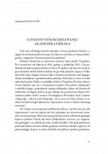 O znanstvenom djelovanju akademika Heraka / Ivan Gušić