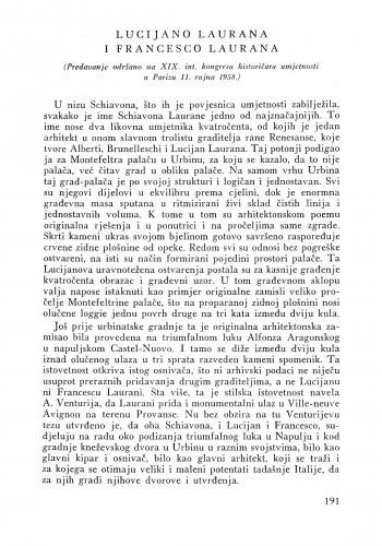 Lucijano Laurana i Francesco Laurana / Ljubo Babić