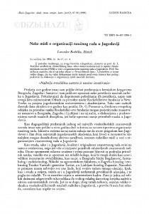 Neke misli o organizaciji naučnog rada u Jugoslaviji / L. Ružička