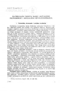Materijalna osnova našeg aktualnog ekonomskog i socijalnog revolucioniranja / Adolf Dragičević