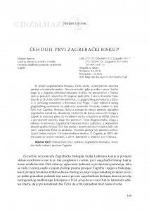 Čeh Duh, prvi zagrebački biskup / Marijan Lipovac