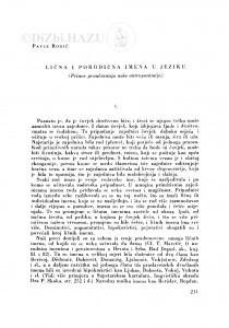 Lična i porodična imena u jeziku : (prinos proučavanju naše antroponimije) / P. Rogić