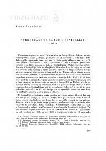 Dubrovčani na sajmu u Senigalliji u 18. st. / V. Ivančević