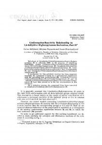 Conformation-reactivity relationship in 1,6-anhydro-β-D-glucopyranose derivates, part II / D. Miljković, M. Popsavin, J. Hranisavljević