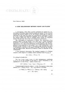 A cubic relationship between points and planes / O. Bottema