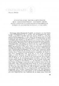 Zusätzliche Betrachtungen mit ergänzenden Sätzen über den Tangentialkurzwegekomplex eines Flächenbüschels 2. Grades / V. Niče