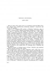 Makso Šnuderl (1895-1979) : [nekrolozi] / V. Stipetić