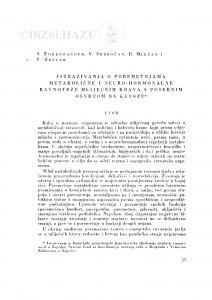 Istraživanja o poremetnjama metabolične i neuro-hormonalne ravnoteže mliječnih krava s posebnim osvrtom na ketozu / S. Forenbacher, V. Srebočan, B. Maržan, F. Zdelar