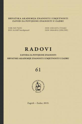 Radovi Zavoda za povijesne znanosti HAZU u Zadru / [glavni i odgovorni urednik Franjo Šanjek]
