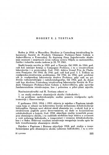 Robert E. J. Tertian