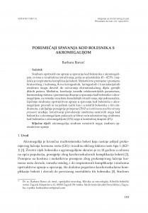 Poremećaji spavanja kod bolesnika s akromegalijom / Barbara Barun