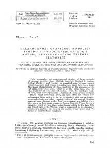 Malakocenoze graničnog područja između tipičnog karbonatnog i smeđeg beskarbonatnog prapora Slavonije / M. Poje