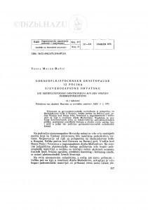 Gornjopleistocenske ornitofaune iz pećina sjeverozapadne Hrvatske / V. Malez-Bačić