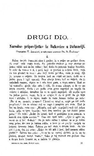 Narodne pripovijetke iz Bukovice u Dalmaciji : komentare napisao Đuro Polívka / V. Ardalić