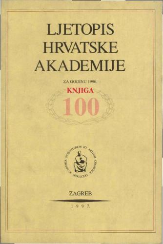 1996. Knj. 100 / urednik Milan Moguš