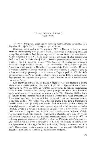 Dragovan Šepić : (1907.-1997.) / Hodimir Sirotković
