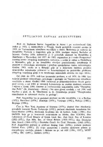 Stylianos Savvas Augustithis
