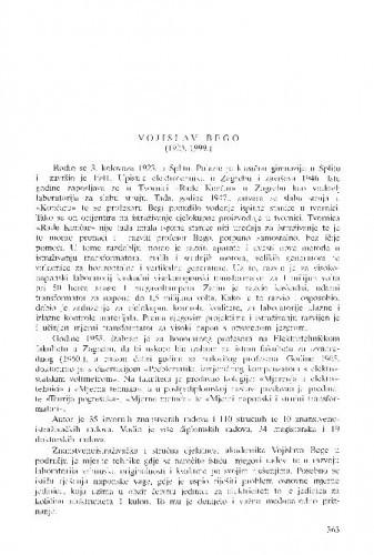 Vojislav Bego (1923.-1999.) / Tomo Bosanac