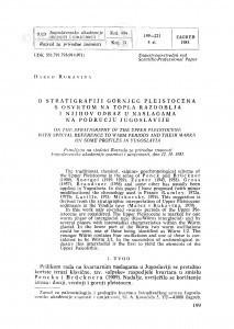 O stratigrafiji gornjeg pleistocena s osvrtom na topla razdoblja i njihov odraz u naslagama na području Jugoslavije / D. Rukavina