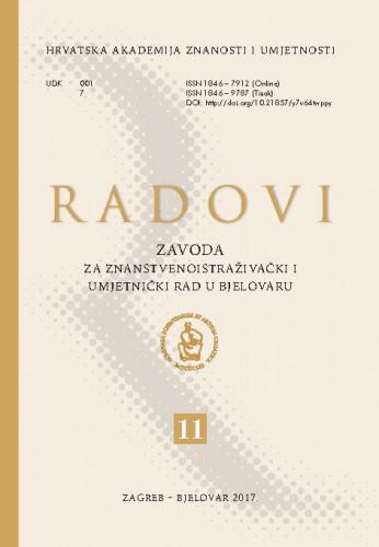 Sv. 11 (2018) : Radovi Zavoda za znanstvenoistraživački i umjetnički rad u Bjelovaru
