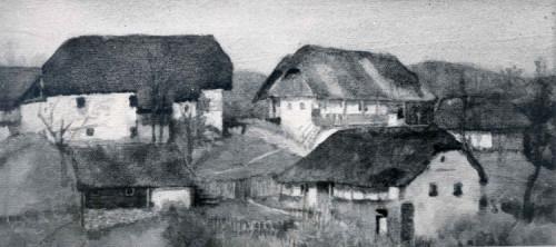 Pejzaž sa seljačkim kućama II.