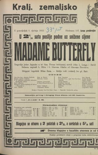 Madame Butterfly Tragedija jedne Japanke u tri čina
