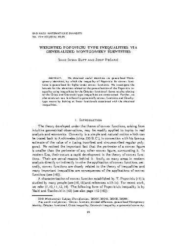 Weighted Popoviciu type inequalities via generalized Montgomery identities