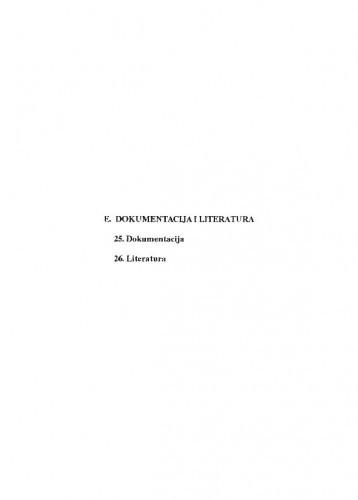 E. Dokumentacija i literatura